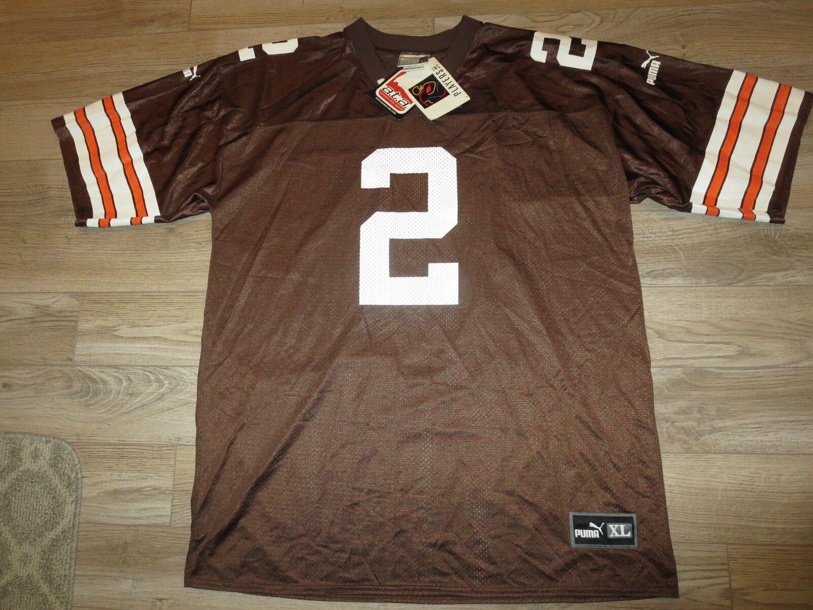Tim Sofá Cleveland marróns Puma NFL Camiseta de Fútbol XL Autógrafo