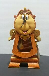 New Disney Parks Beauty And The Beast Cogsworth Clock 10 Working Clock Figurine Ebay