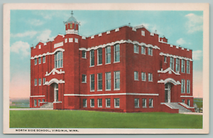 Virginia-Minnesota-North-Side-School-Belfry-c1920-Postcard