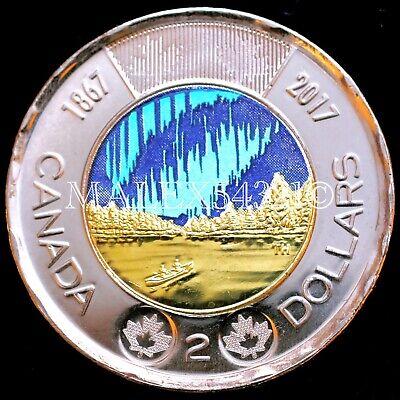 BU UNC Canada 1867-2017 150th anniversary Dancing of spirits $2 toonie coin