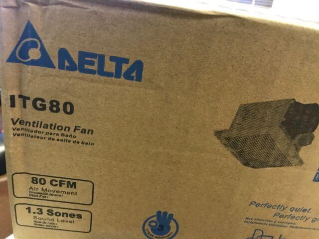 ENERGY STAR NEW DELTA  80 CFM Wall or Ceiling Bathroom Exhaust Fan