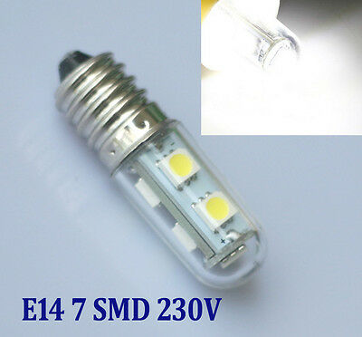 E14 220V 1W 7 LED 5050 SMD Hell weiß Home Corn Licht Durable Longlife Bulb 6000K