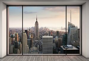 "New York City Wall Art wall mural new york city skyline ""penthouse"" photo wallpaper"