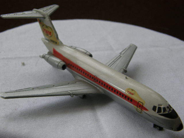 Vintage Original Aero Mini Trans World Airlines Douglas DC-9. Practically Mint