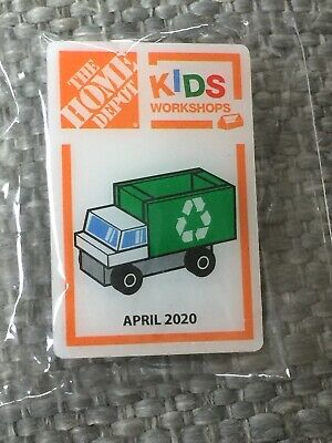 Home Depot Kid/'s Workshop Pin Recycling Truck  Pin April 2020