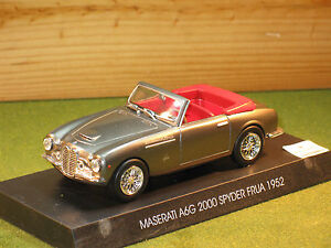 Maserati-A6G-2000-Spyder-Frua-In-Brown-Grey-Metallic-1-43rd-Scale