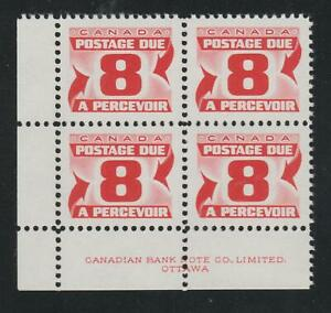 """1969 Canada SC# J34ii LL """"Second Issue"""" Postage Due HB Plate Block M-NH # BB 12c"""