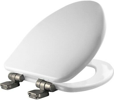 Innocent Blush Bemis 200SLOWT Round Closed-Front Toilet Seat and Lid