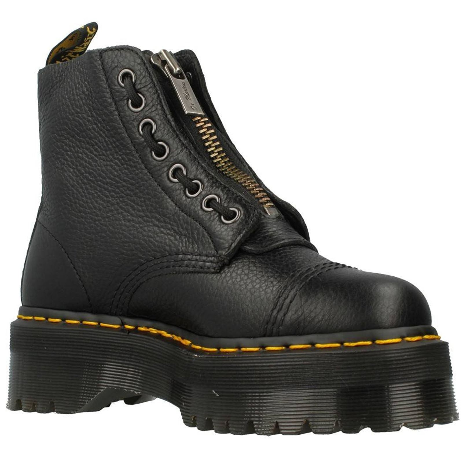 Descuento de la marca Dr. Martens Sinclair Negro de cuero para para cuero mujer plataforma botas de combate e6be58