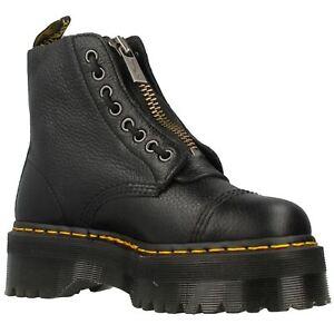 Dr Martens Sinclair Black Womens Leather Platform Combat