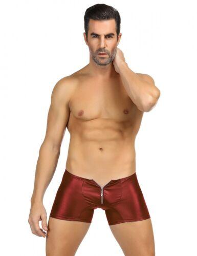 Lau-Fashion Reißverschluss Boxer Wetlook Shorts Slip Männer Hose Unterwäsche M//L