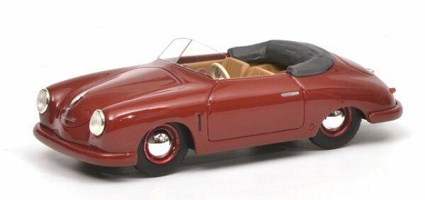 143 Schuco PORSCHE 356 Gmünd Cabriolet Rosso Scuro 450879600