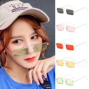 572933ae84 Image is loading Fashion-Small-Sunglasses-Rectangle-Retro-Women-Vintage-Sun-