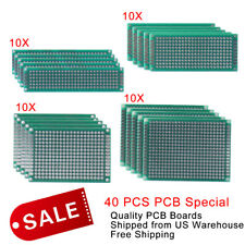 40 X Fr 4 Double Side Prototype Pcb Printed Circuit Board 2x8 3x7 4x6 5x7