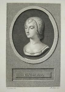 Laura-Engraving-C-1810-Xixth-Pietro-Ermini-18th-19th-Angel-Emile-Lapi-Sc-Print