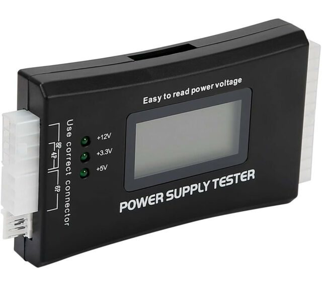 HDE 20+4 Pin LCD Power Supply Tester for ATX, ITX, BTX, PCI-E, SATA, HDD