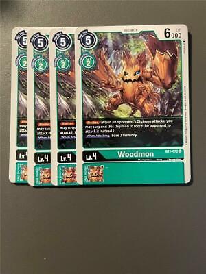 4x BT1-062 SlashAngemon Digimon 2020 TCG English Uncommon Near Mint Playset