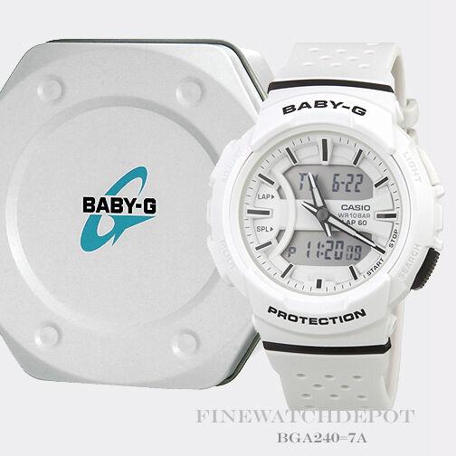623e93b7ba6bb Casio Bga240-7a White 46mm Resin Baby-g Women s Watch for sale ...