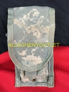 Lot of 4 Army ACU Double Mag Pouch Military Issue MOLLE II Double Magazine Pouch