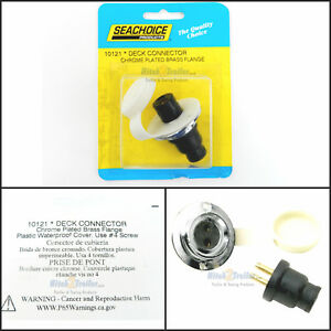 """SeaChoice 10031 Chrome Plated Brass Watertight Cable Outlet 3//8/"""" Waterproof"""