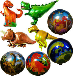 Mini Orange T-Rex Dinosaur Shaped Foil Balloon Jurassic World Animal Theme Party