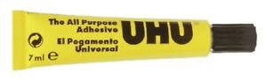 UHU-2532-All-Purpose-Clear-Adhesive-7ml-Tube-1st-Class-Post