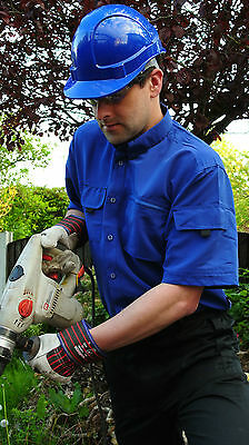 TRADESMAN SMART CARGO POCKET WORK BUTTON SHIRT GREY NAVY KHAKI ROYAL WORKWEAR