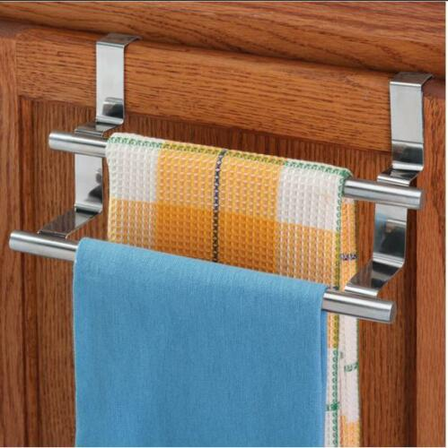 Bathroom 9 inch Over the Cabinet Double Towel Bar Drawer Fits Cabinets
