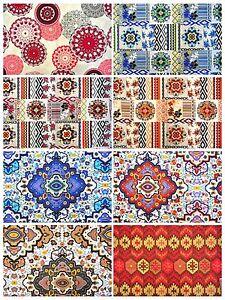 Ethno Möbel deko möbel patchwork stoffe baumwolle vorhang gardine in diversen