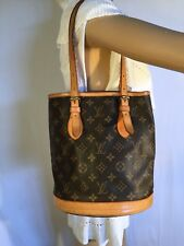 5356188701e8 Auth Louis Vuitton Monogram Canvas Bucket PM Totebag Shoulder Bag ...