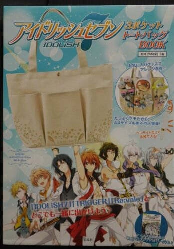 JAPAN Idolish 7 3 Pocket Tote Bag Book