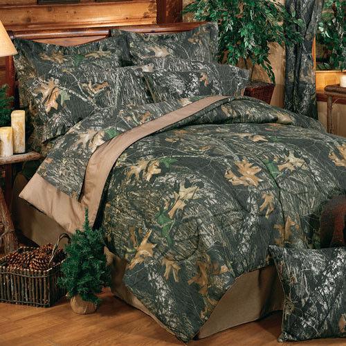 Camouflage Bedding Set Mossy Oak New Break Up Comforter Bed In Bag Add Drapes &