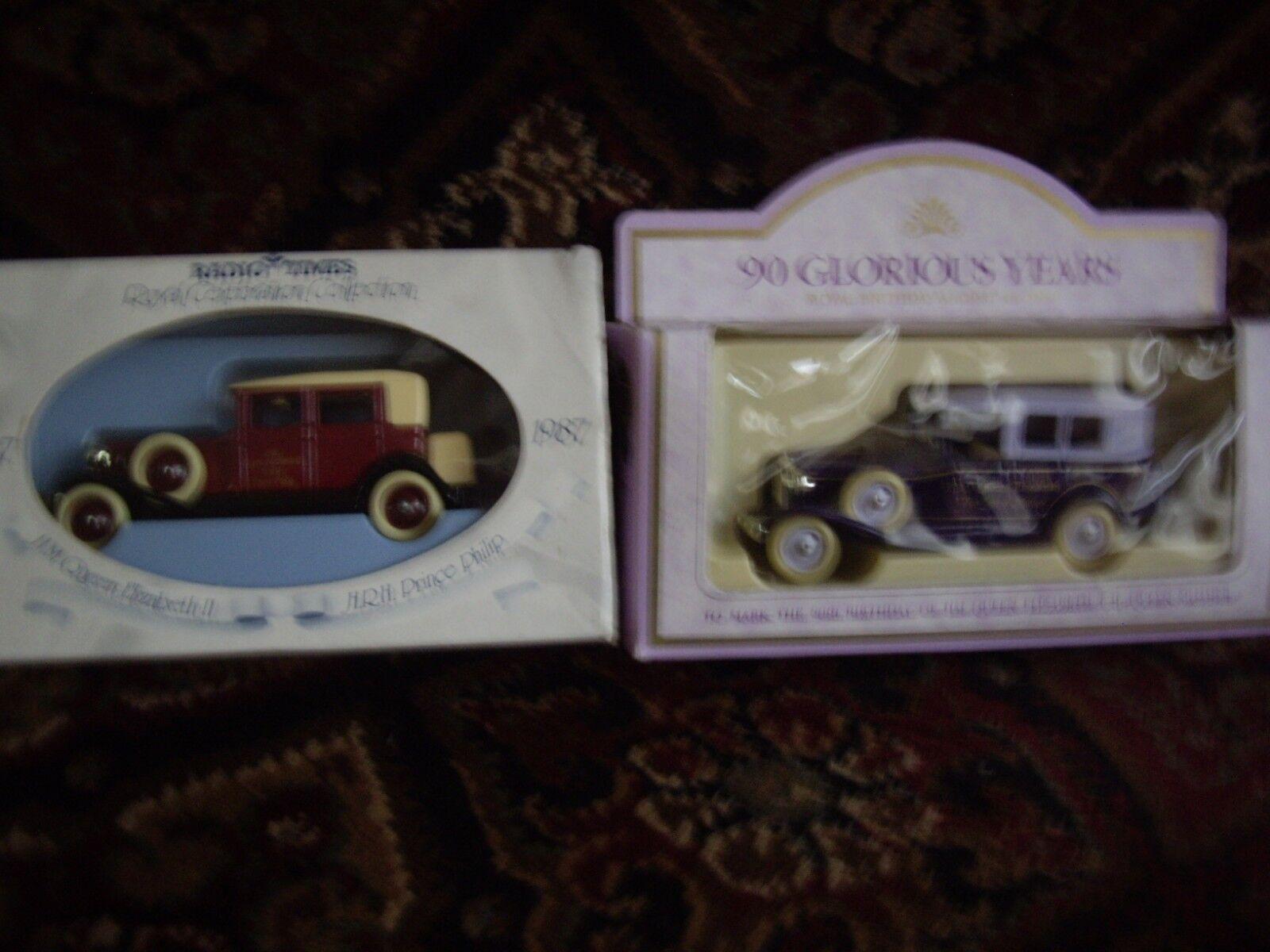 Two Lledo Rolls Royce Commemorative Cars Still Boxed