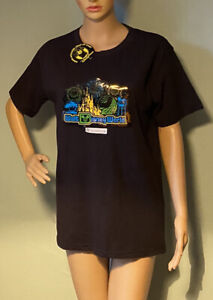 Walt-Disney-Sound-Activated-Light-Up-Unisexe-T-shirt-noir-taille-M-mix-BNWT