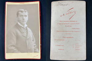 Nadar, Paris, Gustave Worms, acteur Vintage cdv albumen print CDV, tirage albu