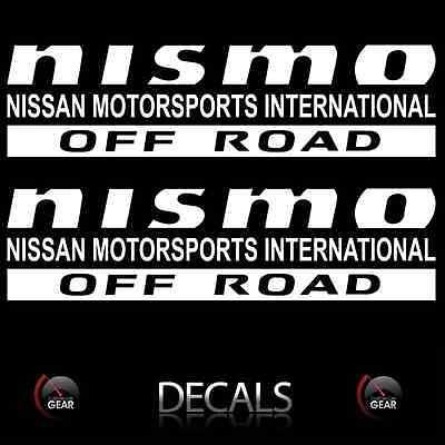 Red NISMO OFF ROAD Decals Stickers Nissan Titan Frontier Pathfinder Custom 2