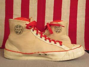 ba1a53b6b9d80 Vintage 1940s US Pro Keds Canvas High-Top Basketball Sneakers ...