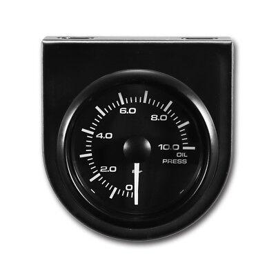 Taiwan Made 52 mm Waterproof Auto Oil Pressure Gauge PSI 270 Black Face Rim LED