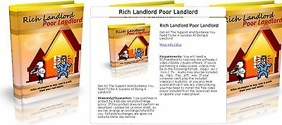Rich Landlord Poor Landlord - Profit From Your Real Estate! ebook on CD/DVD