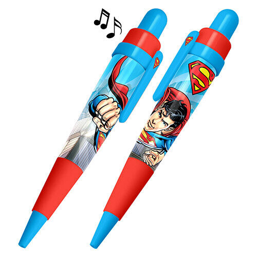 SUPERMAN Musical Twist to Write Biro Pen with Black Ink Plays Theme Song