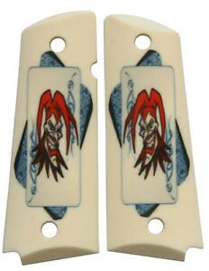 Custom-Full-Size-1911-Grips-Ambidextrous-The-Joker-for-Colt-Kimber-Ruger-etc