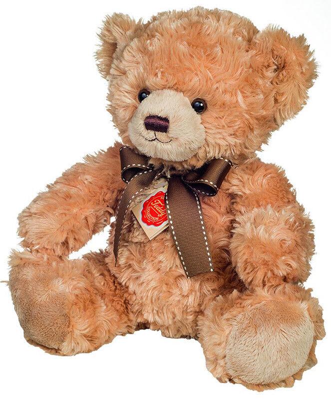 Beige Teddy Bear with bow plush soft toy - Teddy Hermann Original - 91347 - 35cm