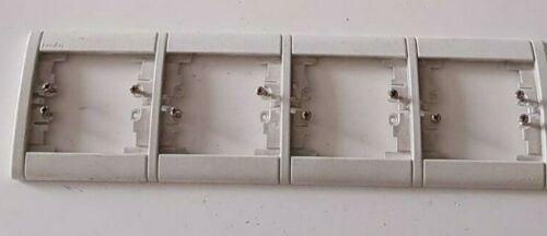 85019 Plaque quadruple horizontale Silex SAGANE LEGRAND