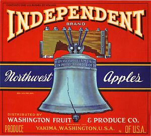 *Original* GOVERNOR WINTHROP Ship England Apple Crate Label NOT A COPY!