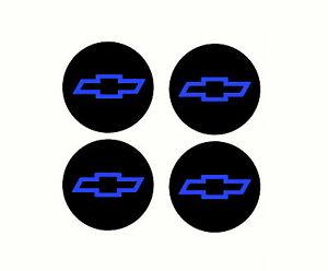 4 Chevy Bowtie Center Cap Rim Wheel Overlay Vinyl Decals