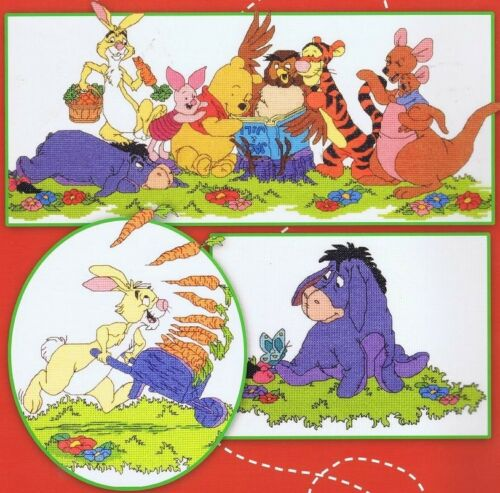 Winnie the Pooh y sus amigos 100 Acre Madera cross stitch chart 8 Diseños
