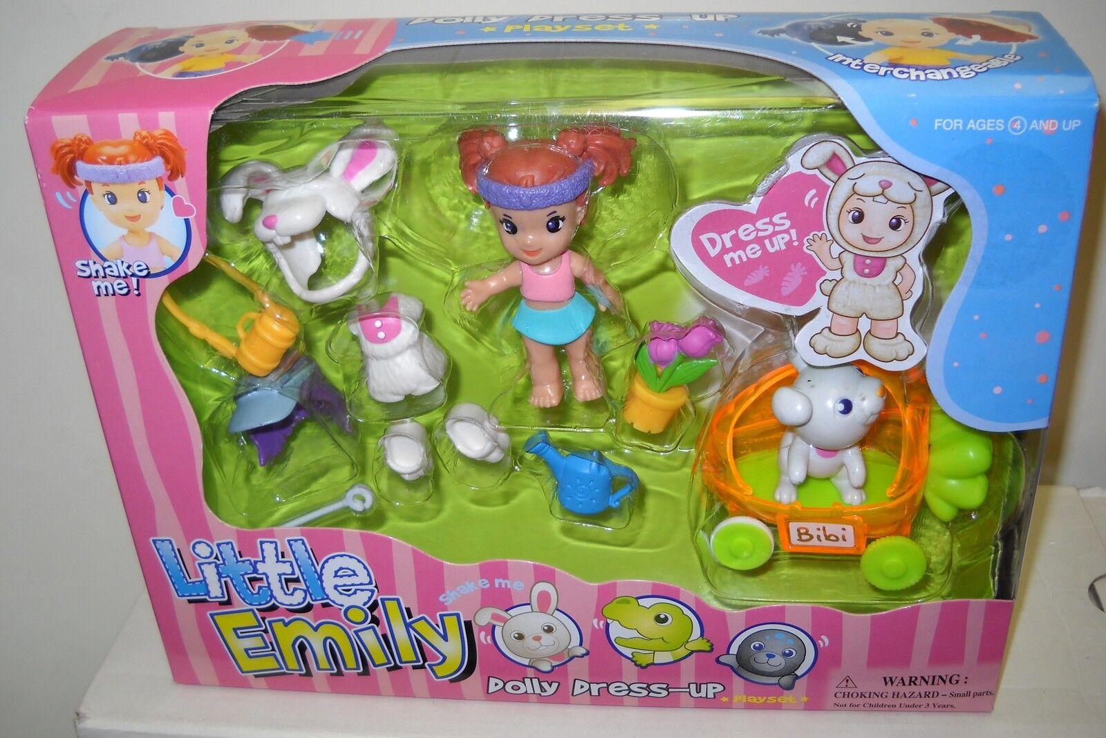 Nunca quitado de la Caja Excite Juguetes 3 poco Emily Dolly vestir Playsets