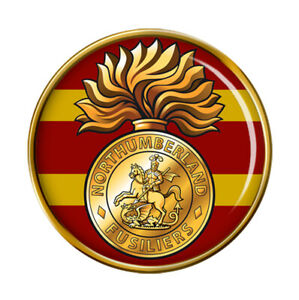 Northumberland Fusiliers lapel pin badge .