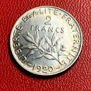 3798-RARE-2-francs-1920-Semeuse-Argent-SUP-SPL-FACTURE