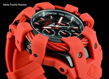 Invicta 50mm Bolt Sport Chronograph Carbon Fiber Dial RED Silicone Strap Watch